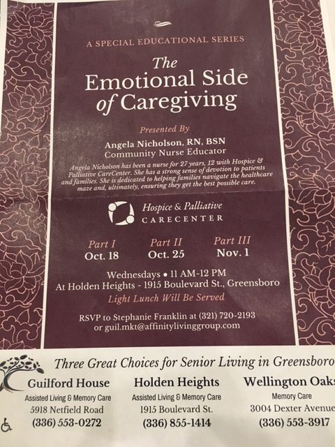 The Emotional Side of Caregiving